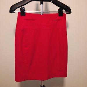 Red Express Pencil Skirt